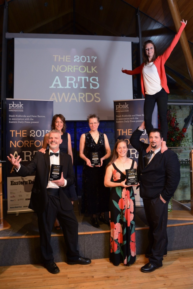 The Common Lot, winners of the Norfolk Arts Awards