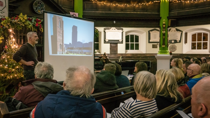 Simon Floyd presentation to community researchers for Anglia Square: A Love Story